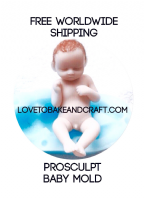 Prosculp baby mold, Sculpey baby, baby mould, Free worldwide  shipping (1) (2) (3)